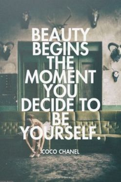 beauty starts when you are you