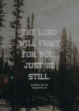 god will fight for me