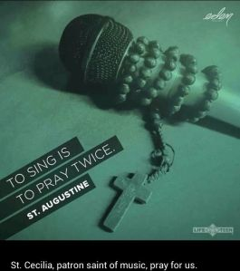 singing is praying twice