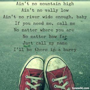 aint no mountain high enough
