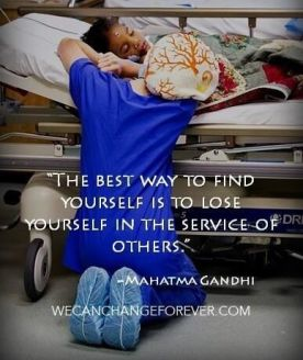 LOSE YOURSELF SERVING OTHERS