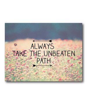 unbeaten path