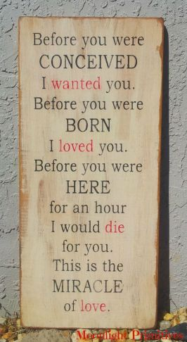 before you were conceived...