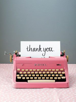 thank you typewriter
