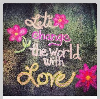 LET'S CHANGE THE WORLD WITH LOVE