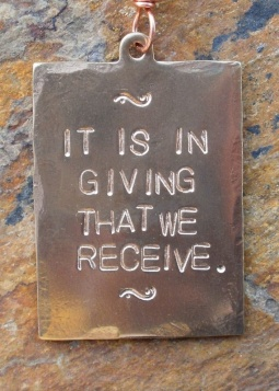 it is in giving that we receive
